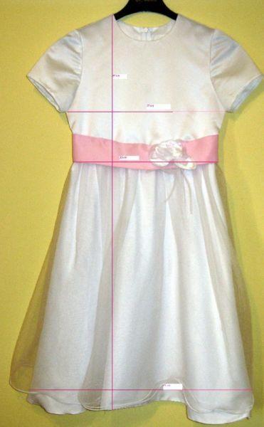 OKAZJA , Sukienka na przyjęcie komunijne lub dla małej druhny na wesele