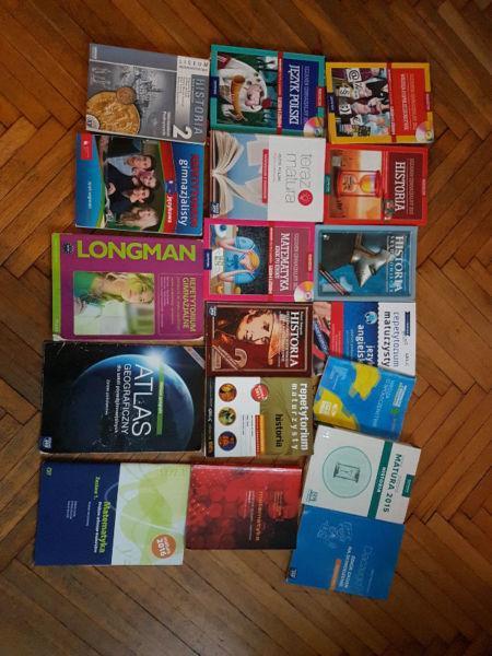 Sprzedam książki do liceum 1-3 klasa i gimnazjum