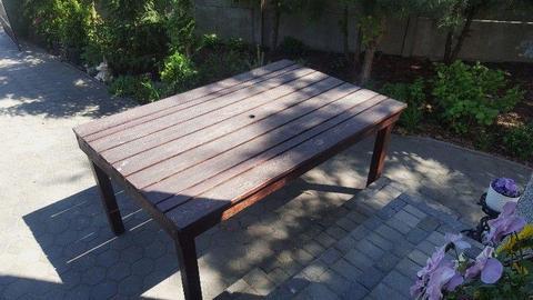 Stół~~ławki~~fotel bujany