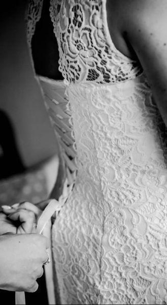 Suknia ślubna SYRENKA A rozmiar 38 regulowana do 36 i 40
