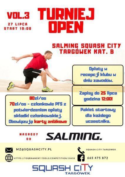 [B] Turniej Salming Squash City Targówek vol. 3