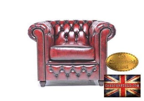 Chesterfield sofa 1 os Brighton antyczne bordo