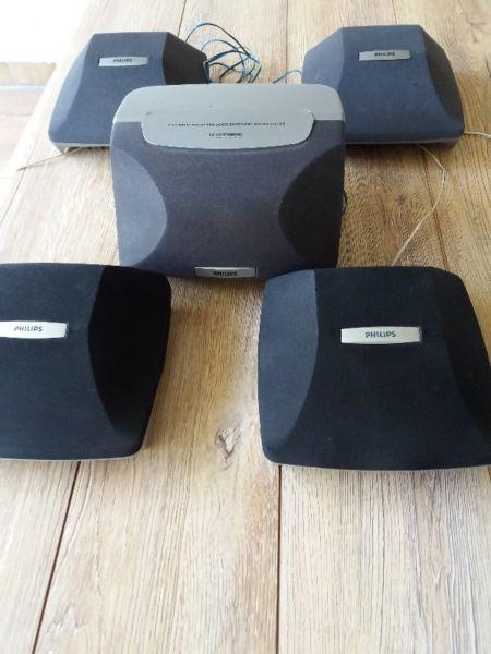 Philips 5 Speakers Dolby Pro Logic Sound System