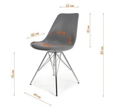 Krzesła - - plastikowe - szare - jadalnia/dom/firma/biuro
