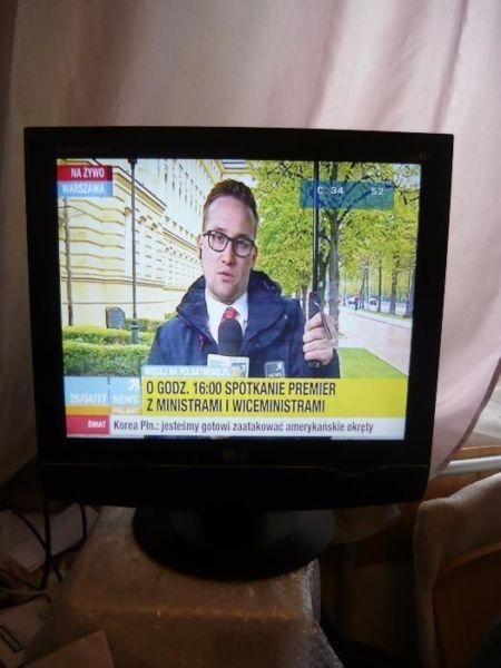 Sprzedam TV w pełni sprawny TELEWIZOR LG LCD 19 CALI idealny do pokoju, na działkę, super stan 350zł