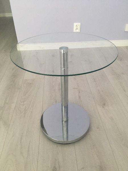 Stolik szklany okrągły