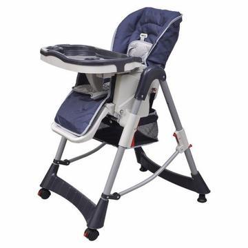 Krzesełko do karmienia dla dzieci z regulacją wysokości, niebieskie(10063)