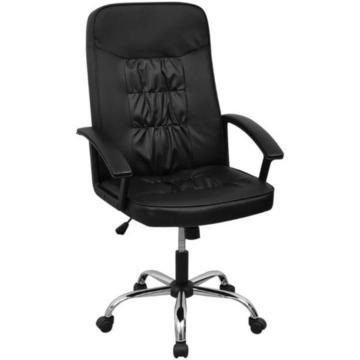 vidalXL Krzesło biurowe Sztuczna skóra (20126)