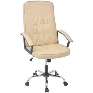 vidalXL Krzesło biurowe Sztuczna skóra (20127)