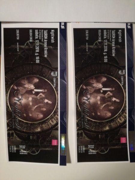 Nightwish dwa bilety golden circle