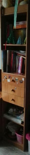Słupek olcha z szufladkami