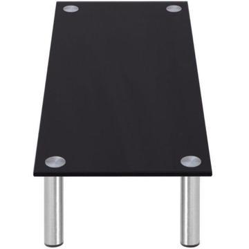 vidaXL Stolik/Podstawka pod Monitor/RTV 100x35x17 cm ze szkła, czarny (242969)