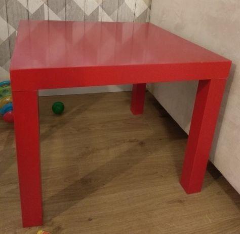 czerwony stolik LACK czerwony stolik IKEA LACK stolik z IKEI 55x55cm