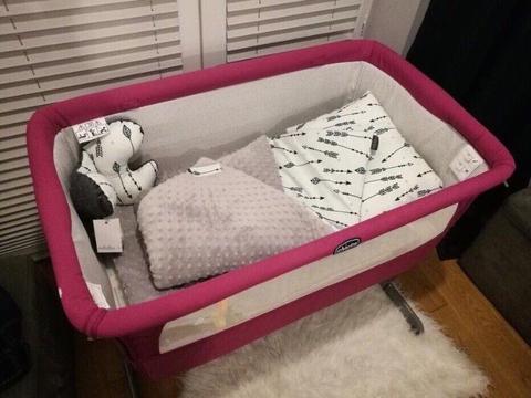Chicco next2me łóżeczko + przescierdła oryginalne +mata na materac