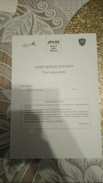 J polski GWO między nami kl 4 testy komplet