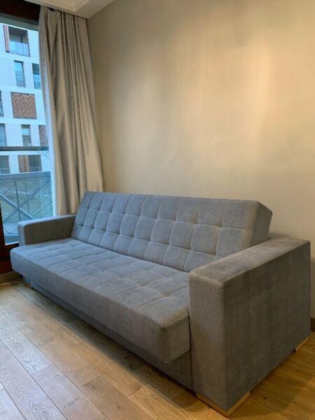 Wygodna sofa z funkcją spania / pojemnik na pościel / świetny materiał