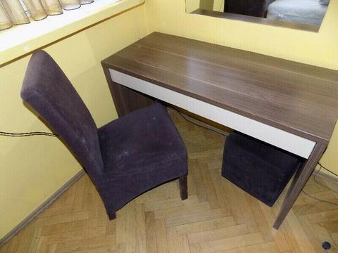 biurko, stol, szafka nocna, komoda, fotel, krzeslo, drzwi przesuwne lustrzane uzywane sprzedam