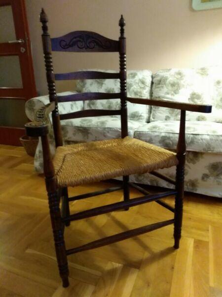 Sprzedam fotel stylizowany drewniany Warszawa