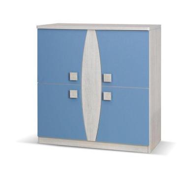 Komoda Tenus 4D dąb santana/niebieski okazja